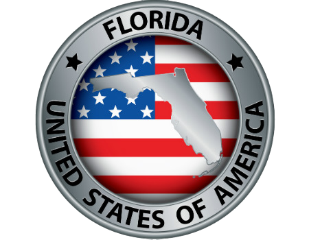 Florida in United States Seal
