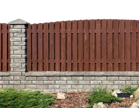 brick-wood-fences-upscale-450x350 - Fence Company ...