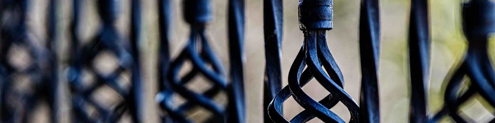 decorative iron fencing closeup