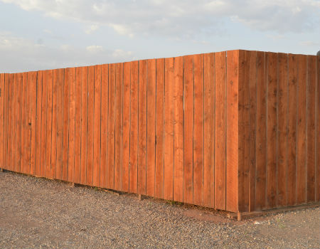 Long-Tall-Wood-Fence-Commercial-Property